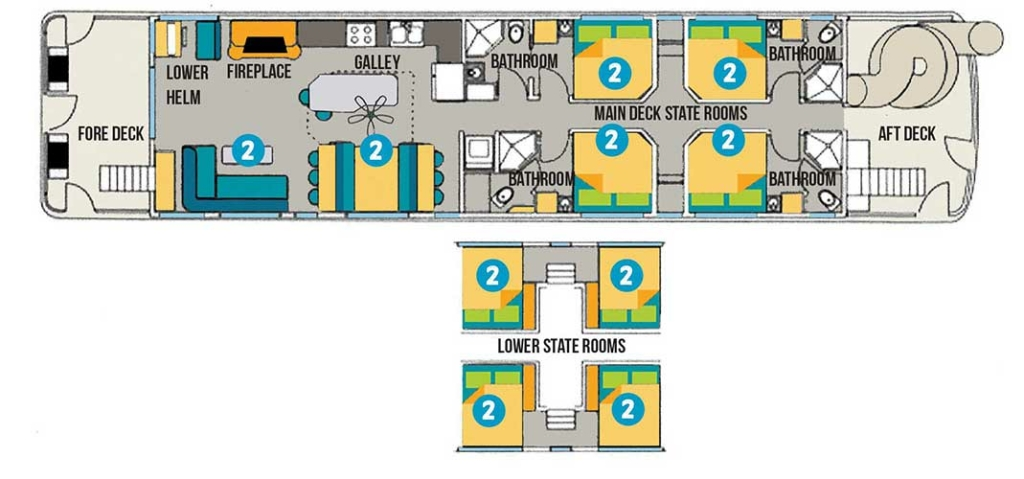 Genesis 75 Main Deck Floorplan